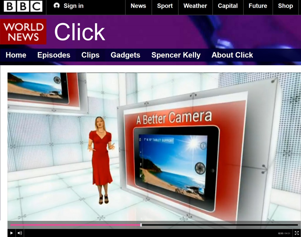 The best camera app for Android featured on BBC Click